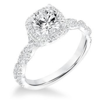 Goldman 14k White Gold 0.34ct Diamond Semi Mount Engagement Ring
