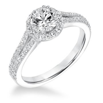 Goldman 14k White Gold 0.36ct Diamond Semi Mount Engagement Ring