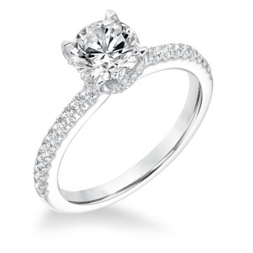 Goldman 14k White Gold 0.32ct Diamond Semi-Mount Engagement Ring