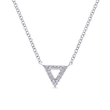 Gabriel & Co. 14k White Gold Kaslique Diamond Necklace