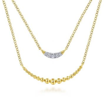 Gabriel & Co. 14k Yellow Gold Bujukan Diamond Necklace