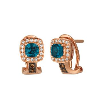 Le Vian Berrylicious Blues 14k Rose Gold Earrings