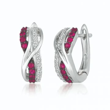 Le Vian Berrylicious Reds 14k White Gold Earrings