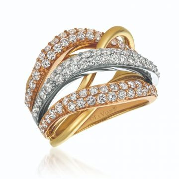 Le Vian Creme Brulee® 14k Tri-Color Gold Diamond Ring
