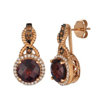 Le Vian Berrylicious Reds 14k Rose Gold Earrings