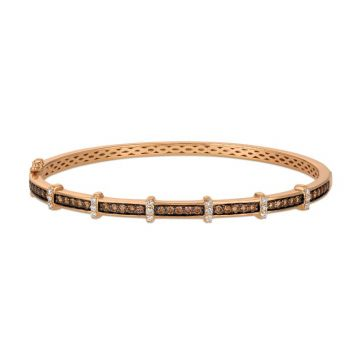 Le Vian Linear 14k Rose Gold Bangle