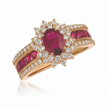 Le Vian Berrylicious Reds 14k Rose Gold Ring