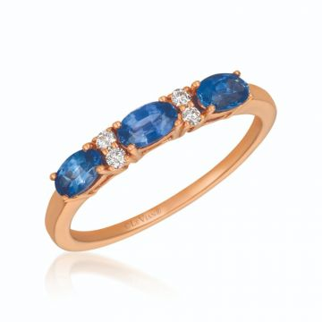 Le Vian Berrylicious Blues 14k Rose Gold Ring