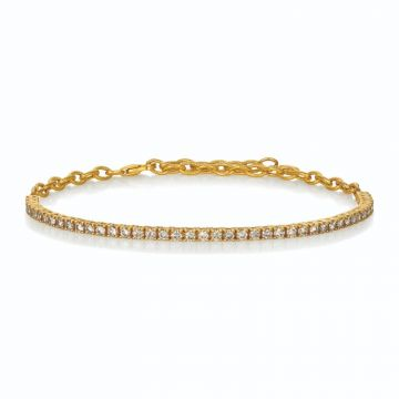 Le Vian Linear 14k Yellow Gold Bracelet