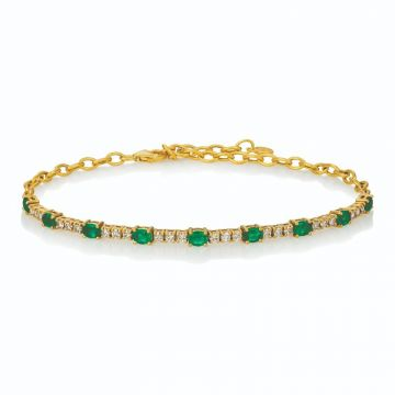 Le Vian Costa Smeralda Emeralds™ 14k Yellow Gold Bracelet