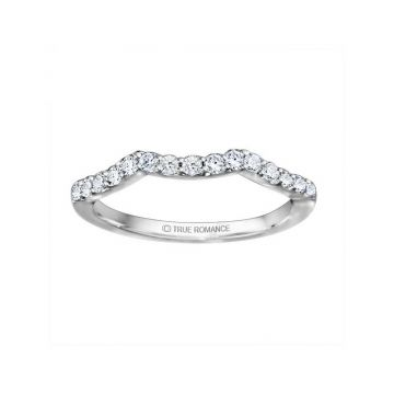 True Romance 14k White Gold 0.38ct Diamond Wedding Band