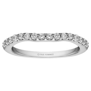 True Romance Platinum 0.13ct Diamond Wedding Band