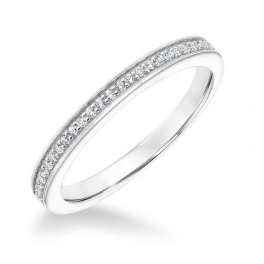 Goldman 14k White Gold 0.12ct Diamond Wedding Band