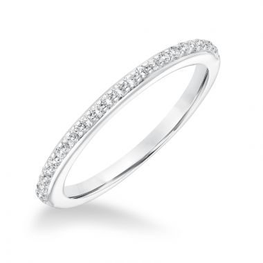 Goldman 14k White Gold 0.19ct Diamond Wedding Band