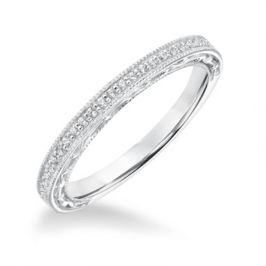 Goldman 14k White Gold 0.15ct Diamond Wedding Band