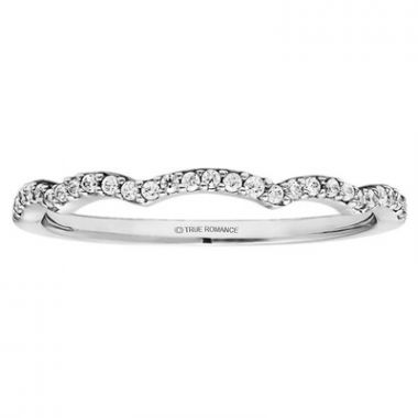True Romance Platinum 0.16ct Diamond Wedding Band