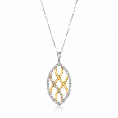 Le Vian 14k Two Tone Gold Pendant