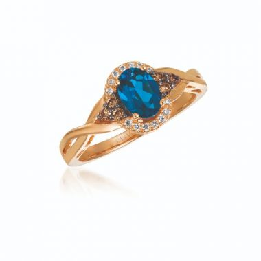 Le Vian Chocolatier® 14k Strawberry Gold Diamond & Gemstone Ring