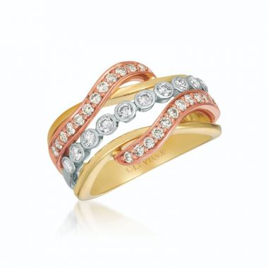 Le Vian Creme Brulee 14k Tri Color Gold Ring